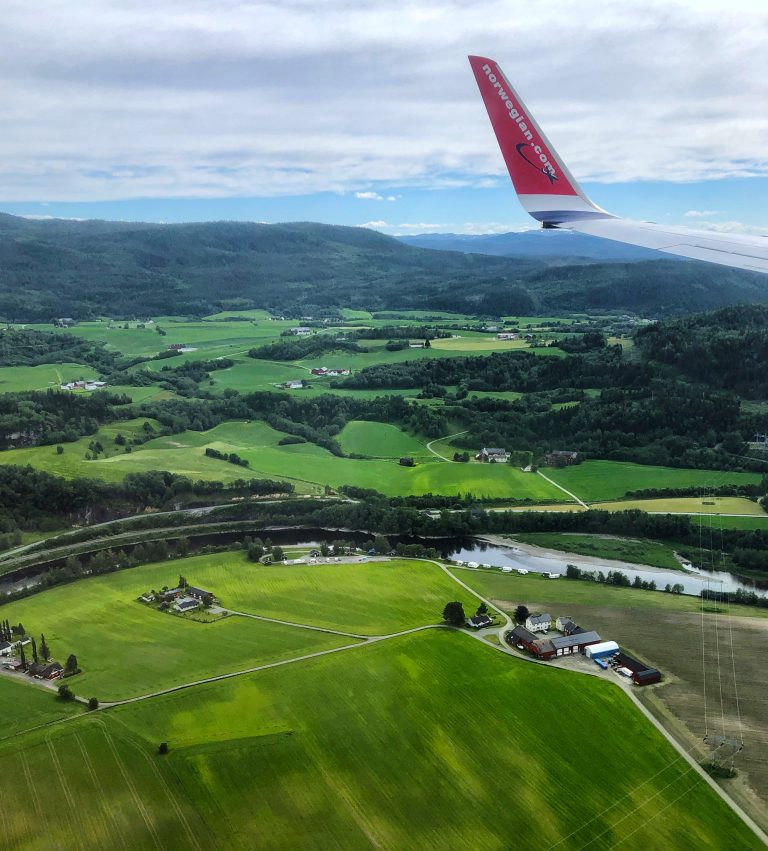 Flying over Norway