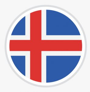 Icelandic flag in a circle
