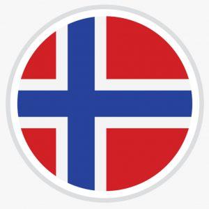 Norway flag circle